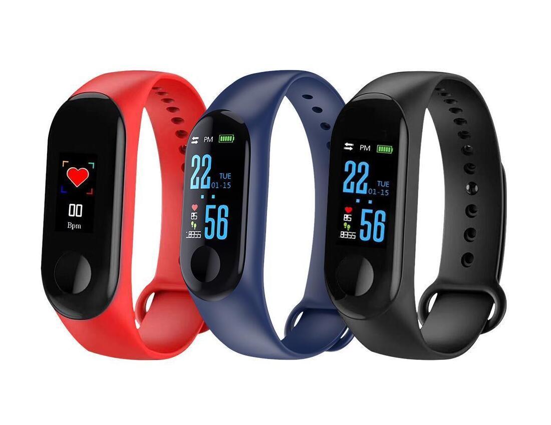 2020-нового M3 Смарт часы браслет диапазон Фитнес Tracker сообщение Напоминание Цвет экран Водонепроницаемый Спорт браслет для мужчин женщин