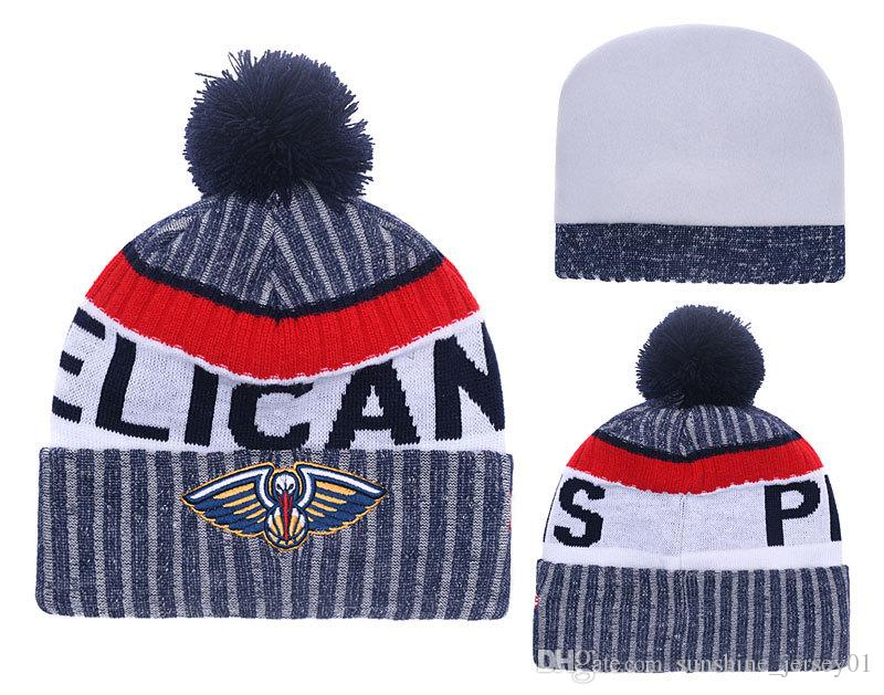 2019 New Orleanspelicans For Men Women Youth 2019nba Sideline Home Official Sport Knit Hat Black Basketball Cap Red Blue From Angel Jersey 16 25