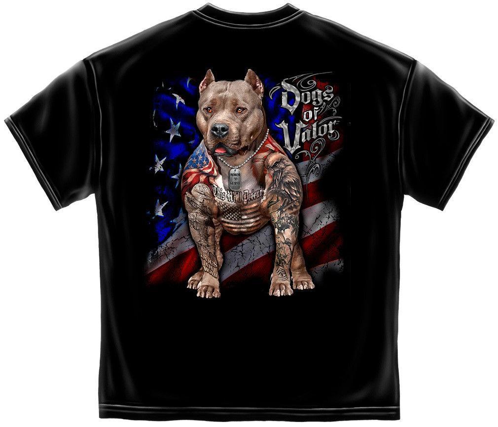 Военные собаки доблести службы футболка американский флаг защищать Питбуль тройник S-3xl 100% хлопок печати рубашка тройник