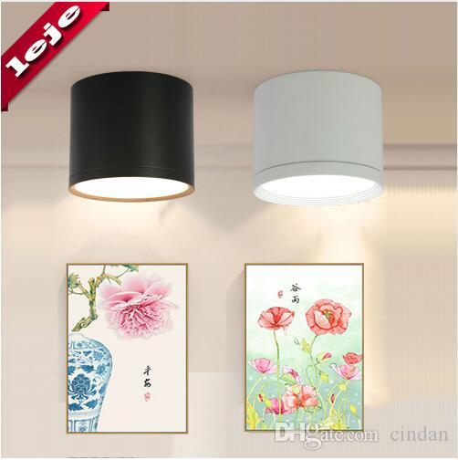 LED 천장 조명 표면 장착 디 밍이 가능한 천장 조명 실린더 7W 12W 15W 침실, 거실, 연구, 사무실, 샵, 스튜디오 용