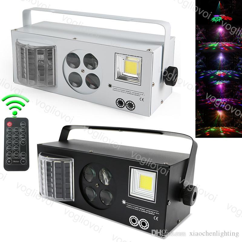 Laser lighting 4 in1 Laser Flash Gobo Strobe Butterfly Patterns DMX512 DJ Equipment stage light Four Functions Lightting Effect DHL