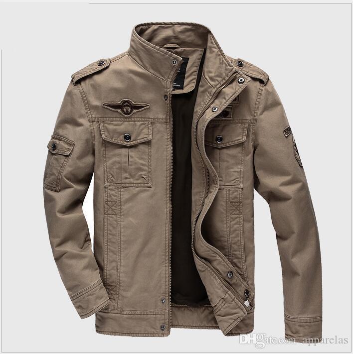 Yıkanmış pamuklu hava kuvvetleri No. 1 askeri ceket