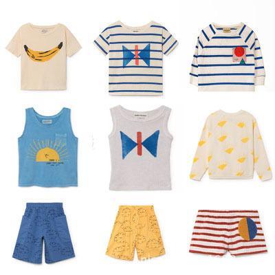 Vêtements enfants Set 2019 Printemps Eté Strafina Tao Bébé Garçons Filles T T-shirt Shorts Tout-petits Débardeur enfants Vêtements Coton S200107