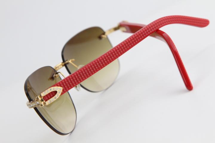 Eyewear Wood Rimless Mens Plancia Occhiali da sole Uomini Sole per Diamond Occhiali oversize Uomini Occhiali da sole Cornice Outdoor Cool Glasses Quadrato MLPFT
