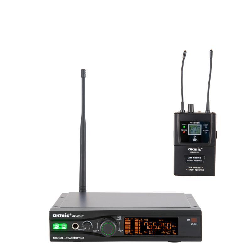 monitoreo de sistema inalámbrico OKMIC 003UT 6202R auriculares auricular estéreo profesional de la etapa de escritorio de rendimiento en la oreja Sistema de monitor de escenario