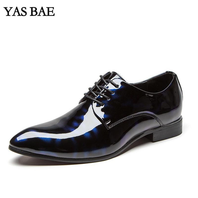ذكر الصين العلامة التجارية الايطالية الاسلوب المناسب الجلود اللباس مكتب رسمي حذاء براءات الاختراع والجلود السحرية الحجم 48 50 الأحذية للرجال