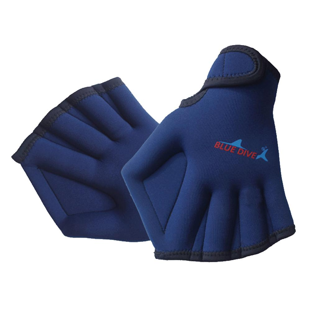 Fins & Gloves 1 Pair 2mm Neoprene Swimming Aquatic Fitness Water Resistance Fit Paddle Training Fingerless