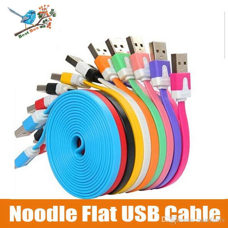 Micro cable USB Cable de carga trenzado de nylon Cable de cargador de tela en 3 pies 1 m para tableta con teléfonos inteligentes Android