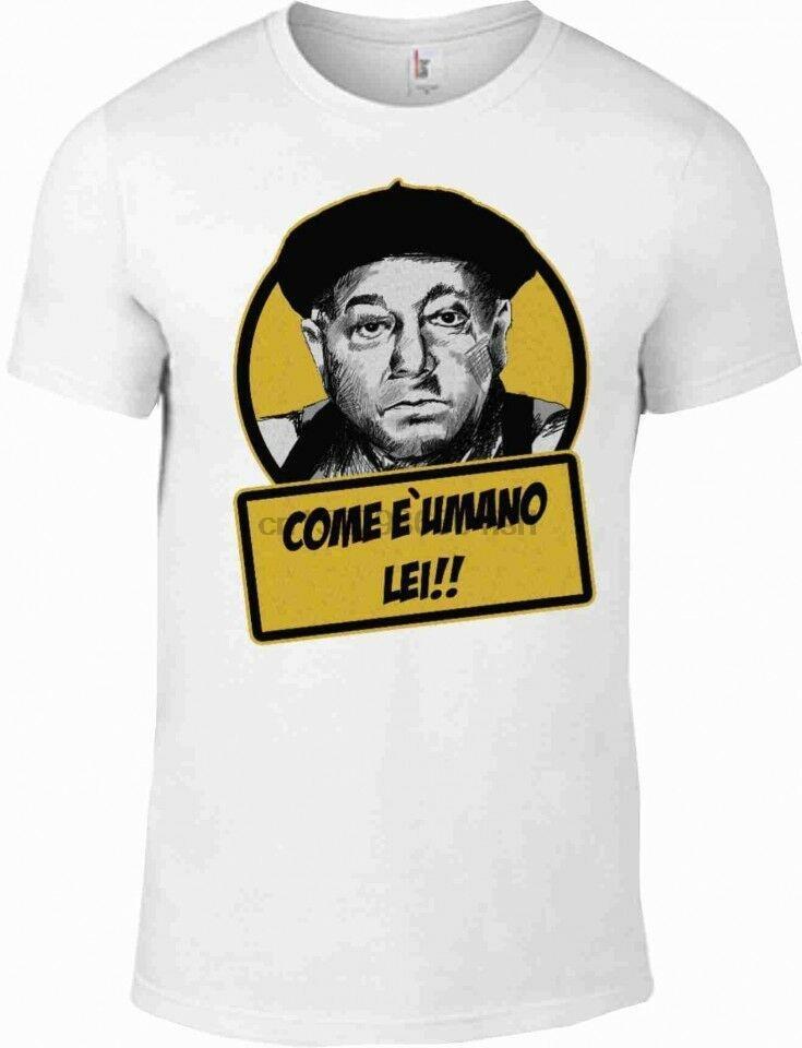 Camisa Fantozzi contador usa la camiseta de la película que es humano le años 80