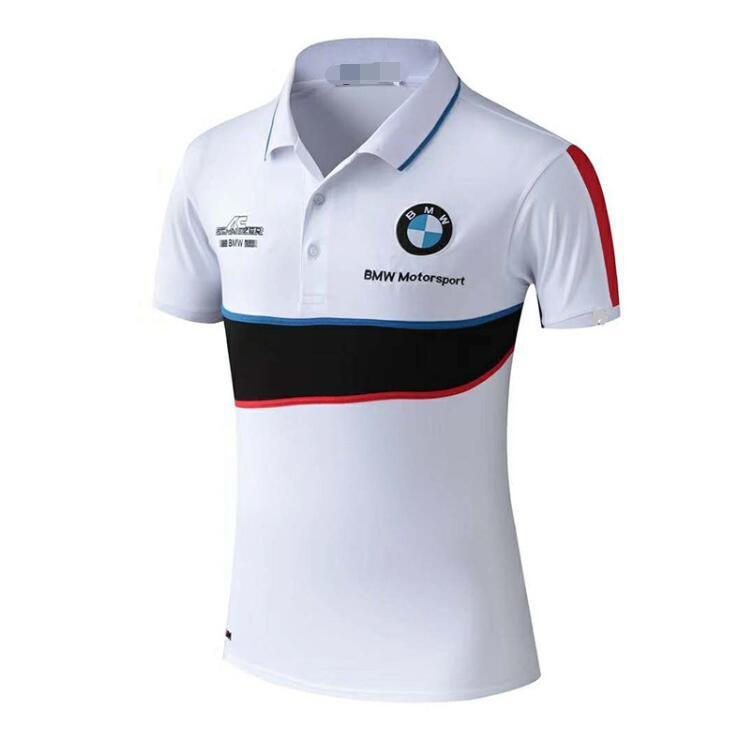 2020 الصيف BMW جديدة لعبة البولو قميص الجولة الرقبة قصيرة الأكمام تي شيرت دراجة نارية ركوب تناسب بدلة السباق أعلى عارضة