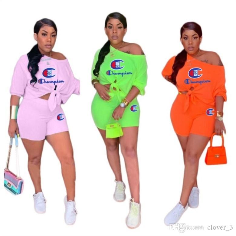 Womens sportswear shorts designer tuta marchio di abbigliamento donna estate jogging vestito sportivo felpa tuta sportiva klw1087
