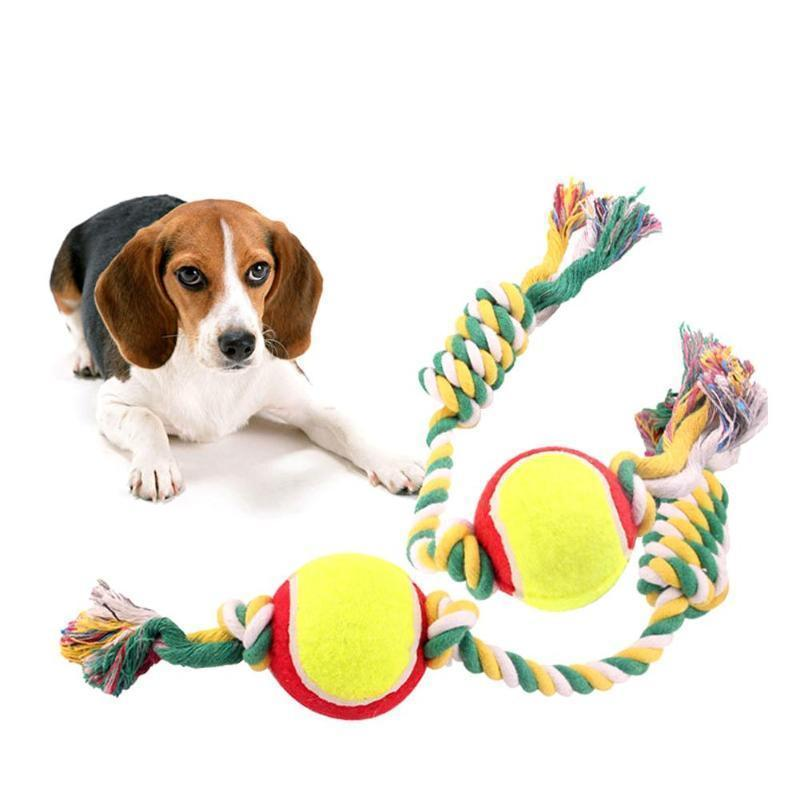 Pet Dog Training Toy Ball Indestructible Solid Rubber Balls Chew Play Fetch Bite Toy With Carrier Rope Bite Resistant Sale