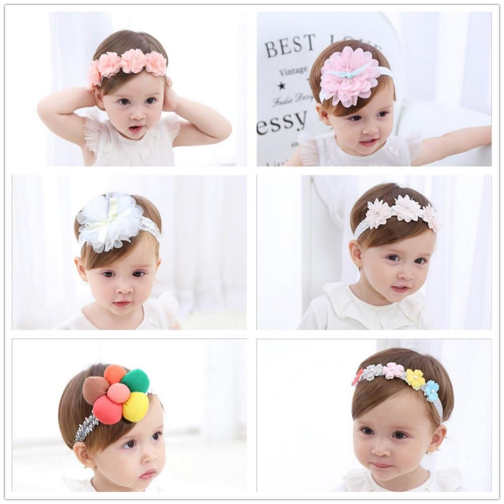 Toddler Girls Kids Baby Big Bow Hairband Headband Stretch Turban Knot Head Wrap*