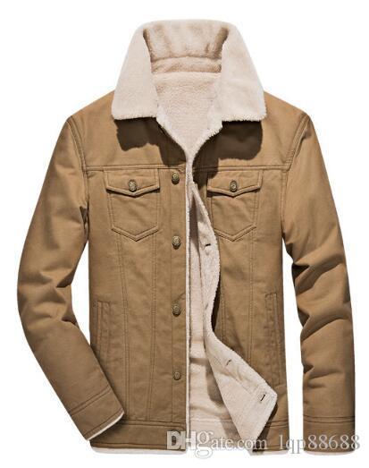 Nuova giacca in cotone per abbigliamento da uomo invernale più capispalla imbottita in velluto