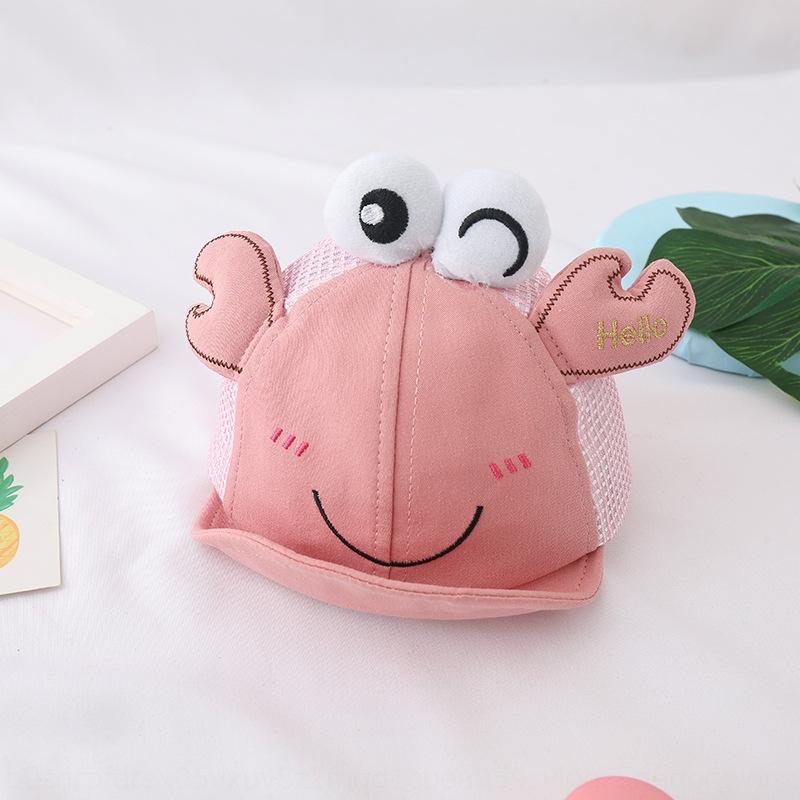 Korean new baby net summer thin cute little crab sunscreen sunscreen cute baby sun hat children's hat