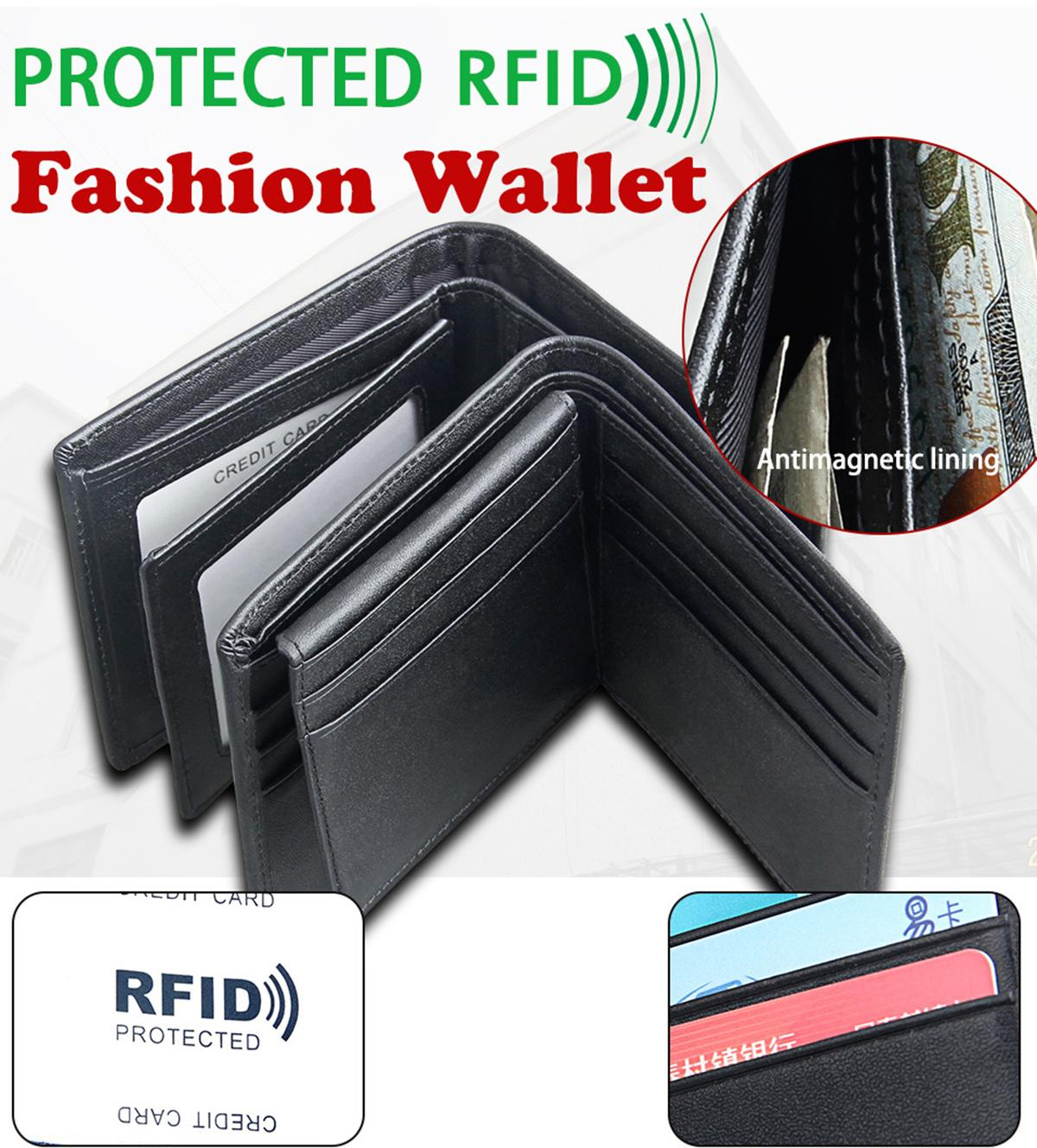 Genuine Leather Fold Over Purses Women Men Short Cow Leather Wallets Business Card Holder RFID Blocking Banknote Pocket Organizer Bags