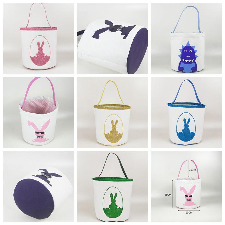 Easter Easter Cute Printed Kid Bunny Buckets Kids Candy Egg Bags Toy Holiday Baskets Lucky Fashion Basket Handbag WY520BQ Storage Bags Lang