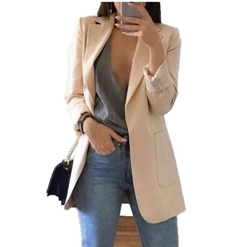 Blazer Jackets for Women Suit European Style 2019 spring fashion Work Style Suit ladies blazer Long Sleeve Outerwear