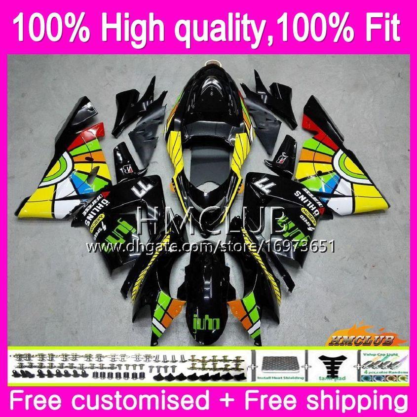 100% della forma di iniezione per KAWASAKI ZX ZX1000 C 10 R ZX10R 04 05 Corpo 62HM.6 Nizza Graffiti ZX10R 04 05 ZX1000C ZX 10R 2004 2005 OEM Kit Carena