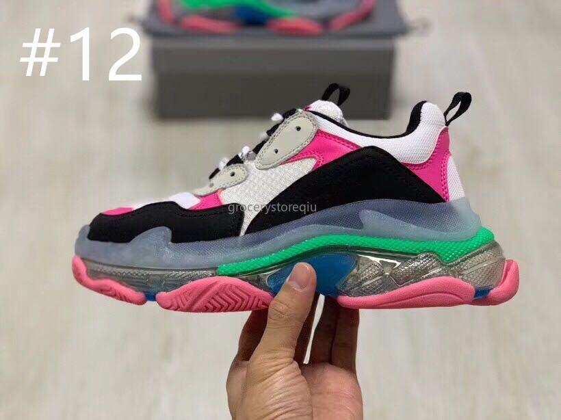 Scarpe casual unisex Sneaker di moda molto calde 2019 Scarpe da sfilata settimana della moda di Parigi Scarpe sportive suola in gelatina di alta qualità Donna Uomo Taglia