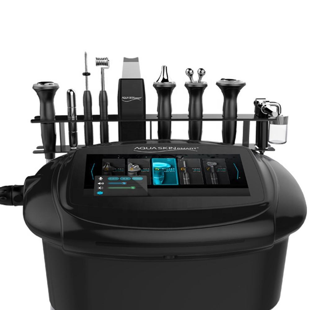 9 في 1 آلة العناية بالبشرة الرئيسية المستخدمة بالموجات فوق الصوتية الأكسجين جت الترددات اللاسلكية الجلد تشديد الجمال صالون المعدات