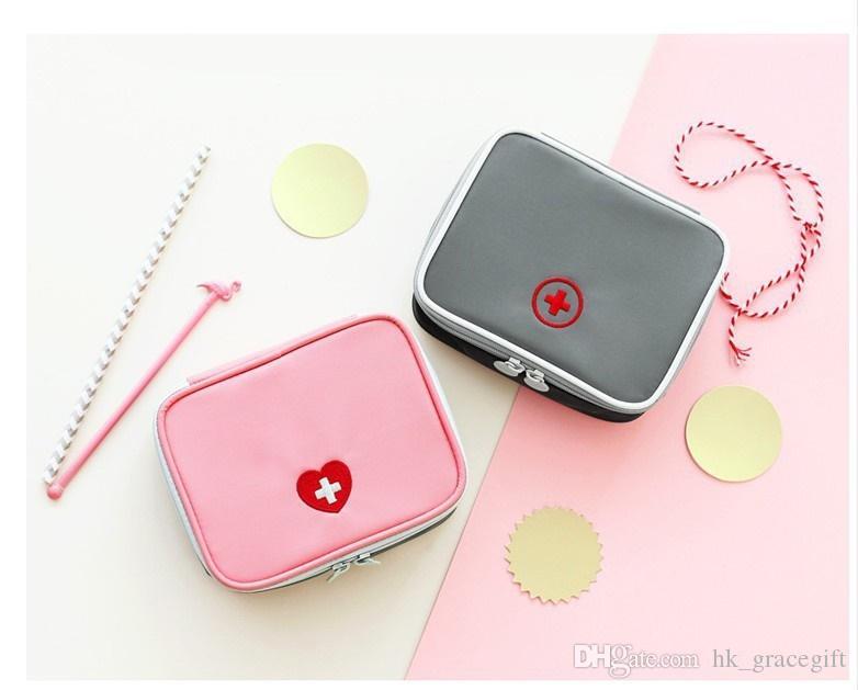 الإسعافات الأولية حقيبة السفر المحمولة الطب حزمة طقم الطوارئ حقائب الطب التخزين المنظم حقيبة صغيرة
