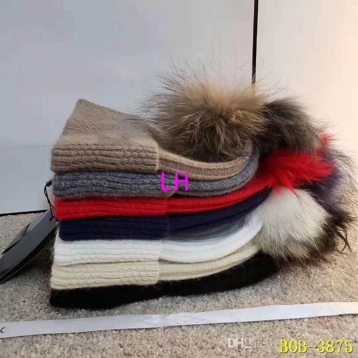 2018 venda quente novo luxo tricô chapéus de algodão por atacado de boa qualidade gorro de inverno das mulheres quente e confortável chapéus