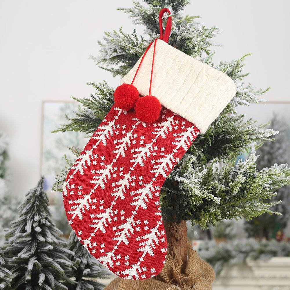 Regalos de Navidad Almacenamiento de dulces Medias Regalo creativo Bolsa de dulces Medias navideñas Decoración del hogar 41 * 19cm Adornos