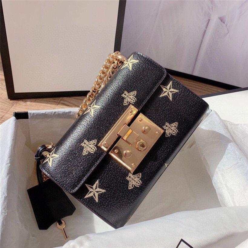 Женщины высокое качество сумка цепи сумки звезды пчелы сумка крест тела #CFY2003132