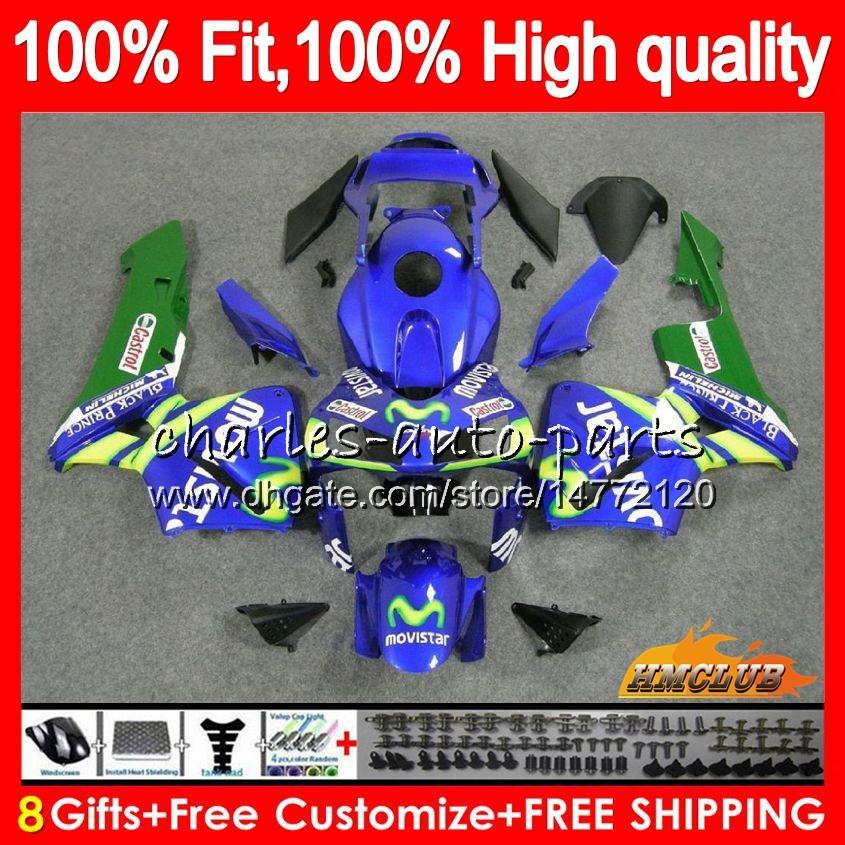 Injeção de OEM para Honda CBR 600RR 600F5 CBR600F5 CBR600 RR 03 81HC.17 Movistar azul CBR600RR CBR 600 RR F5 03 04 2003 2004 100% Fit Fairing