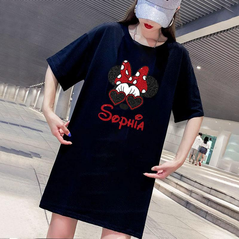 Baskılı Yeni Günlük Streetwear Elbiseler Tees Giyim Boyut M-4XL D001A615 ile Tasarımcı Kadınlar Elbiseler Moda Yaz Kadın Tişörtlü Elbise