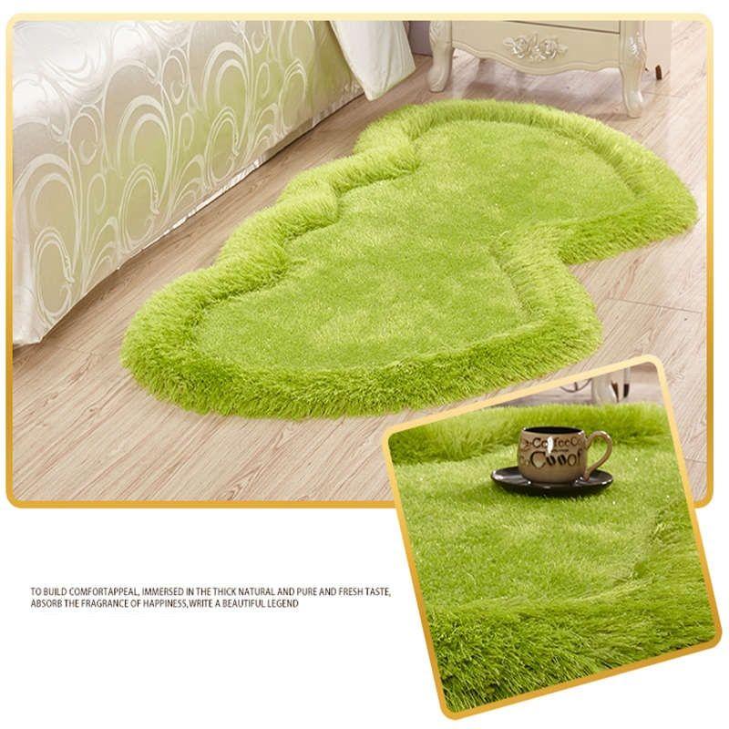 80 * 160cm Bagno Mat Cuore tappeto per Bagno Camera da letto Cucina morbida Shaggy Bath Mat addensare Comodino Corridoio piedi Mat 9 colori