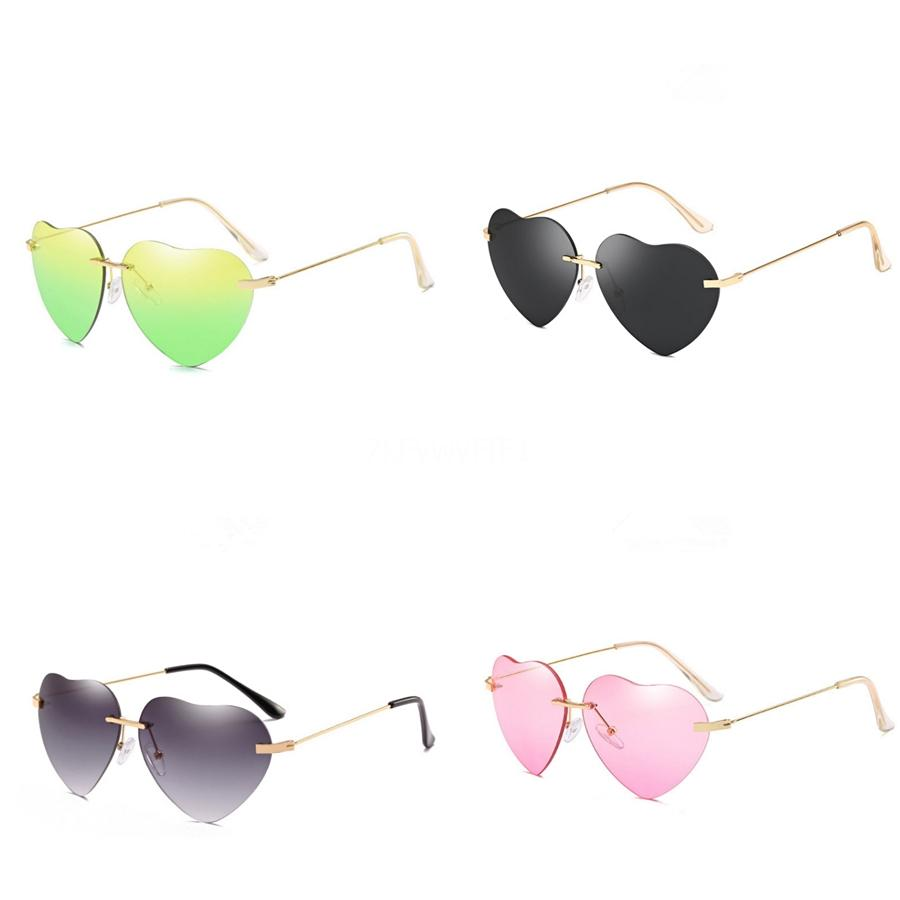 Top Fashion Vassl Gradient Heart-Shaped Sunglasee Sunglass For Men Women Black Metal Frame Brown Glass Lens 58Mm With Box #69936
