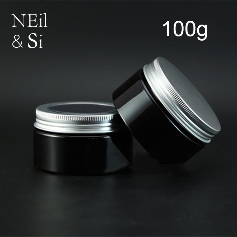 Черный 100г пластиковые Косметические Jar Refillable Крем для лица Контейнер Соль для ванн Лосьон Упаковка бутылок света Избегайте