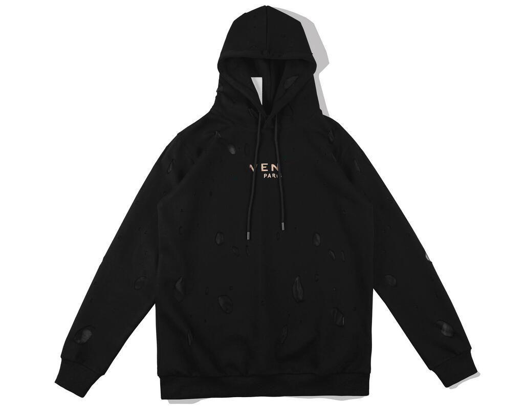sweat à capuche 2020ss trou hommes pull-over design de luxe hoodie pull-over et les femmes de haute qualité pull veste trou noir - 5102