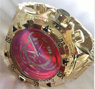 COSC suizo INVICTA muy grande de acero de tungsteno rotación calidad buena marcación de los hombres de reloj multifunción reloj de cuarzo compras libres