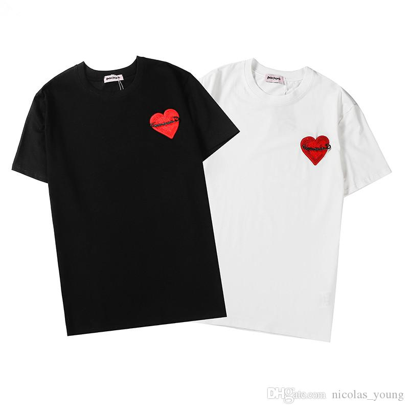 2020SS NEW O-Neck Black White Mens T-shirt Women Tops Tee High Quality Casual Short Sleeve Pullover Clothing Style# E06