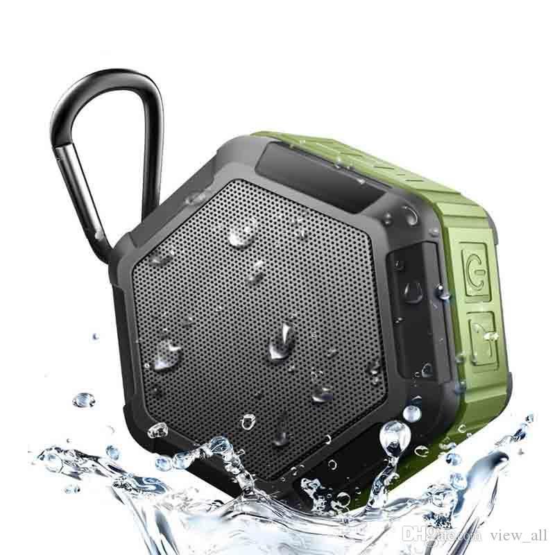 Работа в воды Портативный беспроводной Bluetooth Динамик сабвуфера Мощный IP65 Открытый Спорт MP3-плеер Music Speaker Bass
