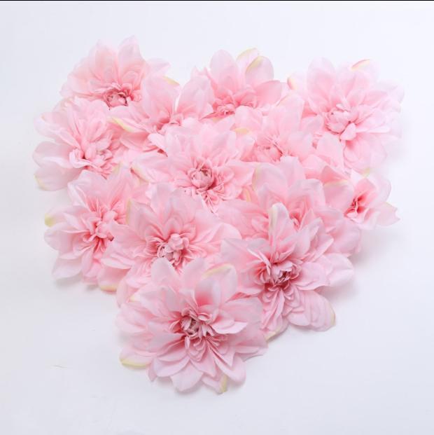 Simulation Dahlia Head mariage Décoration Accueil Placement Pivoine Fleur artificielle Rose main mariage décoration murale fleur