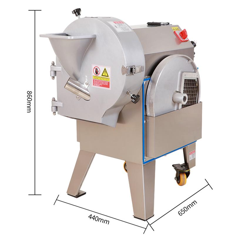 New Commercial Electric Vegetable Cutter Machine Stainless Steel Potato Slicer Shred Potato Cutting Machine Price 300-1000kg / h