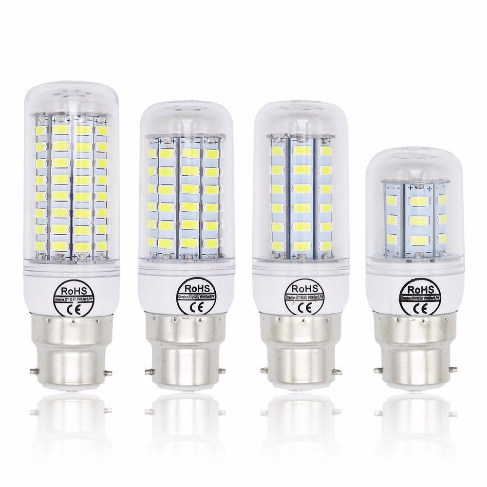 Lampada B22 lâmpadas 240v 220v 7W 12W 15W 20W Light Bulb 72x 5730 SMD 30W fria branco quente Led Spotlight lâmpada LED