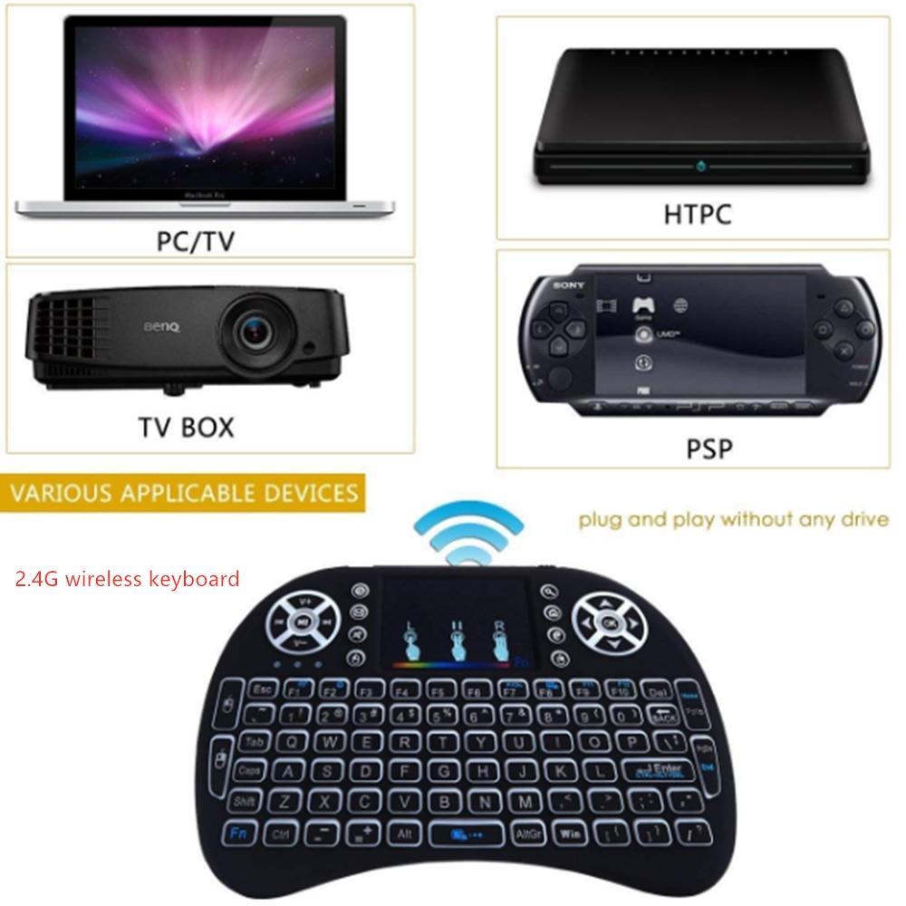 الخلفية وصول جديد I8 البسيطة لوحة المفاتيح بلوتوث الماوس 2.4GHz الهواء مع لوحة اللمس التحكم عن بعد ل XBOX360 PS4 الروبوت TV تحكم لعبة