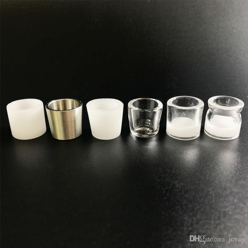 quartz Vente chaude Insert de pointe de 6 style supérieur plat bol de quartz bas pour 20 mm 25 mm 30 mm quartz Banger clou DABBER Rigs