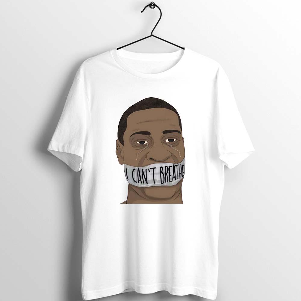 للجنسين الرجال النساء T العدل قميص لجورج لا أستطيع التنفس عمل فني مطبوعة المحملة الأساسي الملابس القطنية البيضاء لفصل الصيف