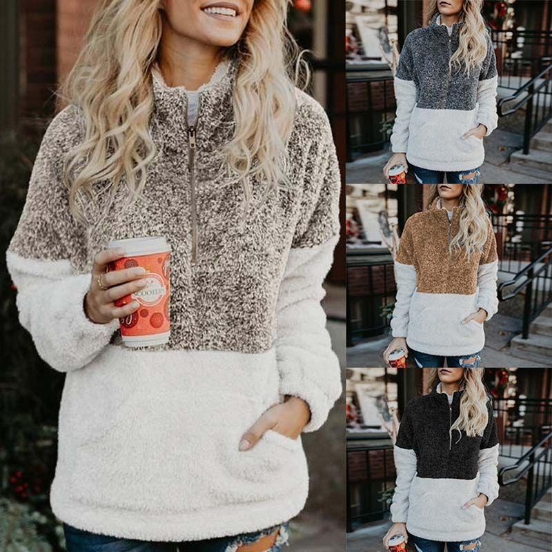 Femmes Pulls D'hiver Sweats À Capuche Épais En Molleton De Mode Femme Pulls Sports Sweat Wear Hoodie Coton Sweat À Capuche pour Femme