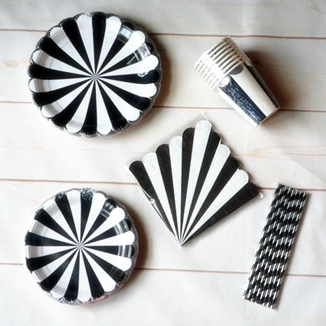 Party Supplies Tableware Silver Scallop Paper Cups