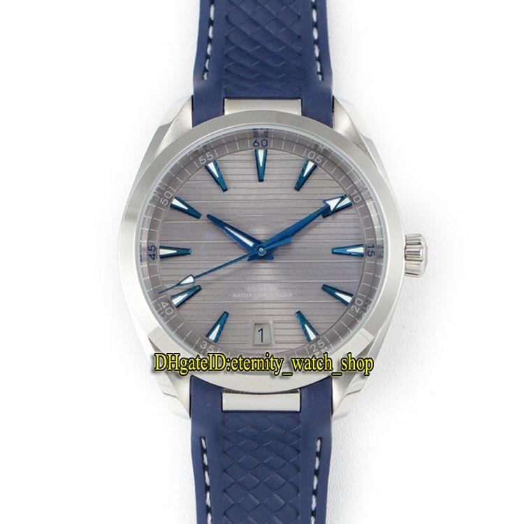 SSS Fábrica Aqua Terra 150m Série 220.12.41.21.06.001 Cinza Dial 8900 Mecânica Automática Mens Relógios Aço Inoxidável Caso Sport Relógios