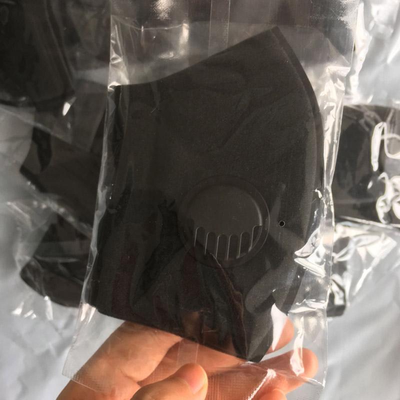 Masque visage avec masque respiratoire Valve lavable éponge réutilisable Masques anti-poussière PM2,5 de protection noir Recyclage Designer Masque Vente Discount