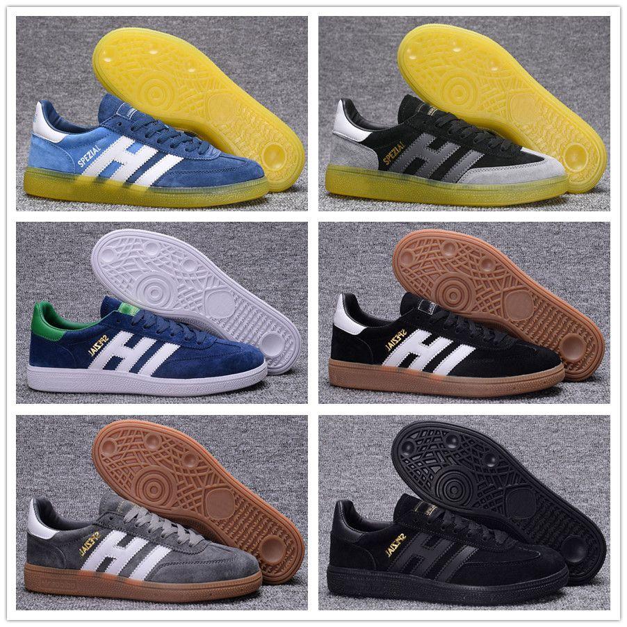 2019 NUOVA pelle scamosciata Handball Spezial Scarpe Uomo di qualità superiore dei pattini casuali antiscivolo diresistenza disegno classico delle scarpe da tennis EUR 40-44