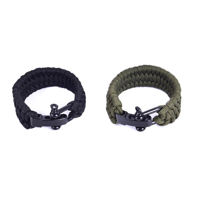 Men Women Rope With Whistle Buckle Emergency Kit Wristbands Men Jewelry Camping Hiking Survival Umbrella Rope Bracelet 1pcs